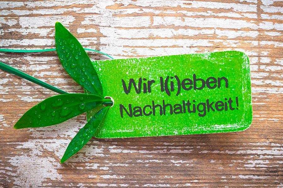 Wir leben grün - Nachhaltig